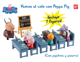 ESCUELA PEPPA.  VAMOS AL COLE PEPPA PIG