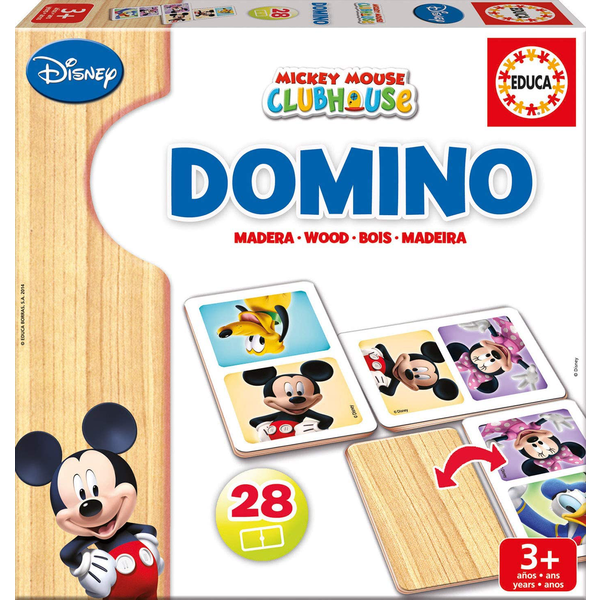 DOMINO MADERA MINNIE+MICKEY