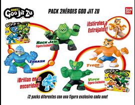 GOO JIT ZU - PACK 2 HEROES