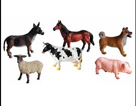 ANIMALES GRANJA  25cm.  -6  modelos aleatorios