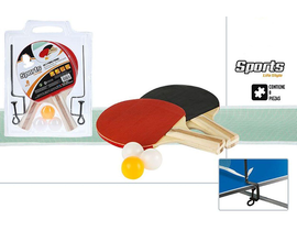PALA PIN PON SET 2 PALAS+RED+PELOTA