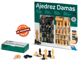 AJEDREZ-DAMAS 40 cm. c/accesorios